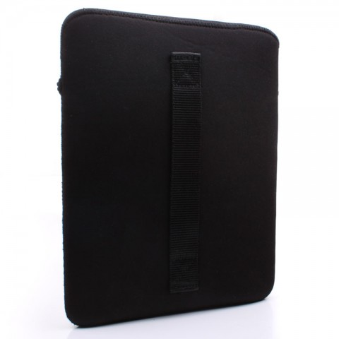 USA GEAR FlexARMOR XLS Protective Neoprene Tablet Sleeve with Handle , Accessory Pocket & Scratch-Resistant Lining - Black