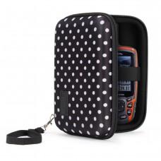 USA GEAR H Series Hard Shell 6.5 Protective Carrying Case - Polka Dot