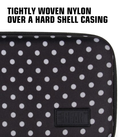 Hard Shell Electronics Case by USA Gear- Holds Cables , Chargers , GPS , Smartphones , Hard Drives - Polka Dot