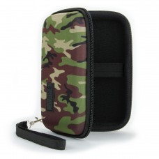 Hard Shell Electronics Case for Hard Drives, iPods, Portable Wi-Fi, Cables, etc. - Camo Green