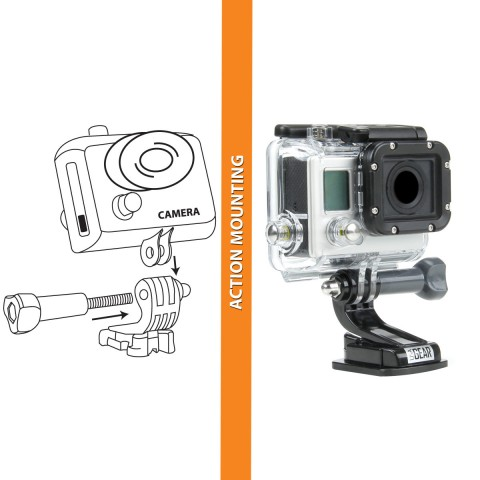 USA GEAR 9-in-1 Professional Action Mount Bundle Kit