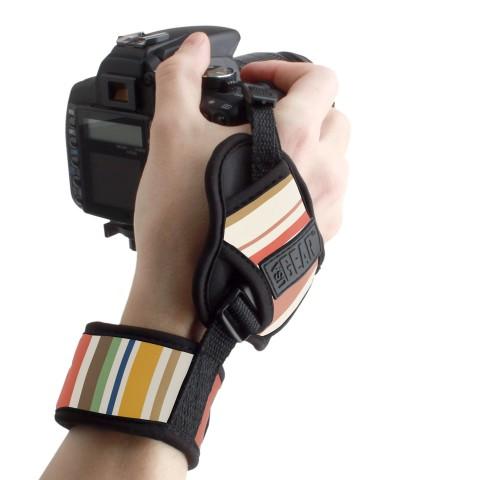 Professional Digital Film DSLR Camera Hand Grip Strap with Metal Plate-Stripe