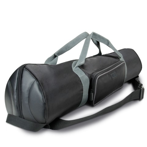 Padded Tripod Case by USA Gear with Expandable Compartment & Accessory Storage-Black
