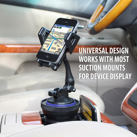 Radar Detectors and More GPS/'s GEAR-CUPMOUNT Tablets Wireless Qi Chargers GPSs Adjustable Design Will Hold Suction Mounts for Smart Phones USA Gear Cup Holder Suction Mount Surface Adapter Dash Cams